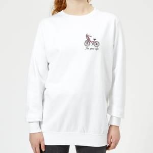 Bicycle The Good Life Pocket Print Women's Sweatshirt - White