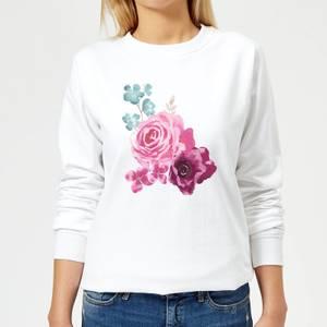 Bunch Of Flowers 2 Women's Sweatshirt - White