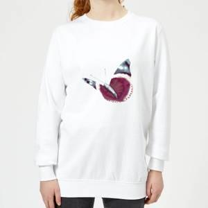 Butterfly 4 Women's Sweatshirt - White