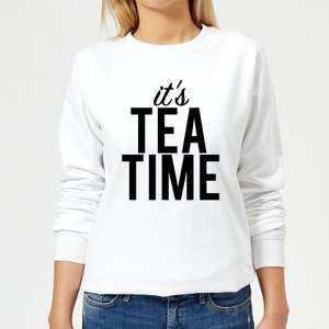 It's Tea Time Women's Sweatshirt - White