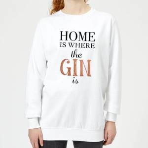Home Is Where The Gin Is Women's Sweatshirt - White