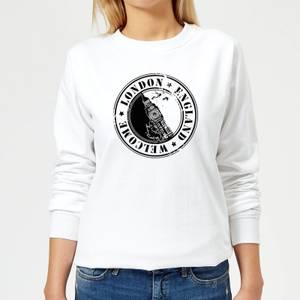 London Stamp Women's Sweatshirt - White