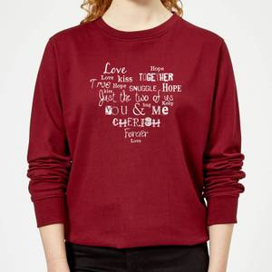You And Me Light Women's Sweatshirt - Burgundy