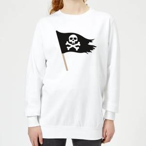 Pirate Flag Women's Sweatshirt - White
