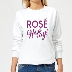 Rose Hooray Women's Sweatshirt - White