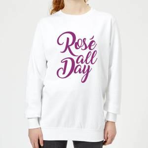 Rose All Day Women's Sweatshirt - White
