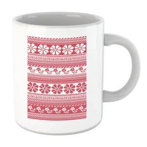Floral Knitted Pattern Mug