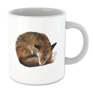 Curled Up Fox Mug