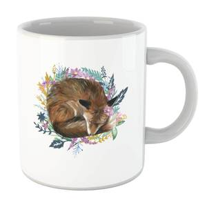 Curled Up Fox Within A Reef Mug