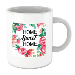 Home Sweet Home Floral Background Mug