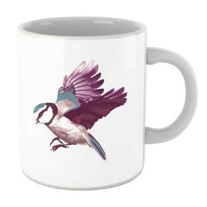 Blue Tit In Flight Mug