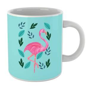 Flamingo And Leaves Mug