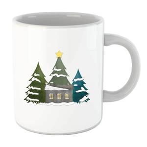 Cabin And Trees Mug