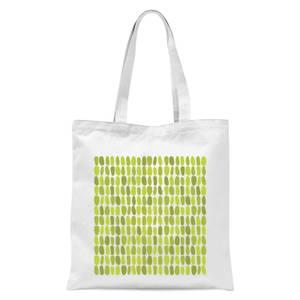 Green Leafy Blobs Tote Bag - White