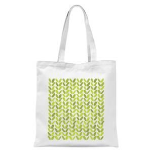 Green Grassy Blobs Tote Bag - White