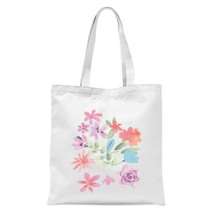 Flower Garden Tote Bag - White
