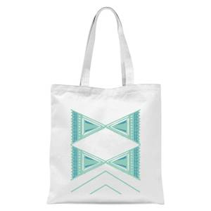 Abstract Pattern 2 Tote Bag - White