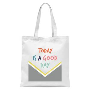 Today Is A Good Day Pattern Tote Bag - White