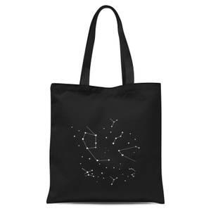 Star Constellations Tote Bag - Black
