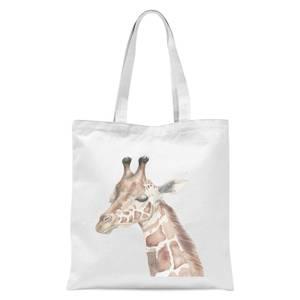 Watercolour Giraffe Tote Bag - White