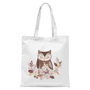 Owl Tote Bag - White