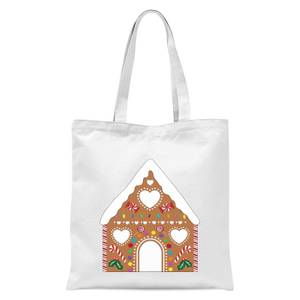 Gingerbread House Tote Bag - White