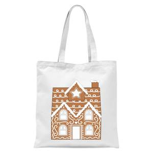 Gingerbread House Two Tote Bag - White