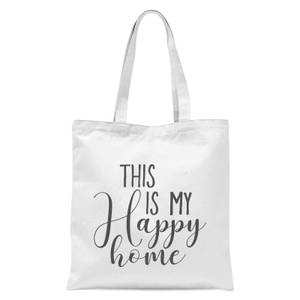 This Is My Happy Home Tote Bag - White