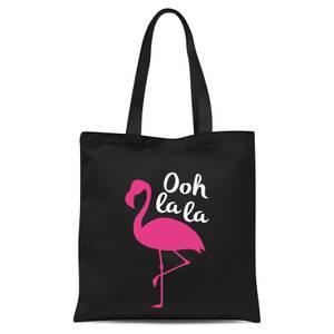 Ooh La La Flamingo Tote Bag - Black