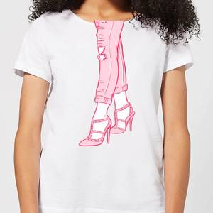 Heels And Jeans Women's T-Shirt - White