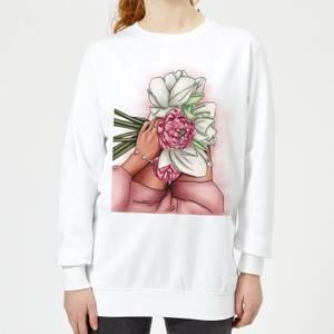 Flowers Women's Sweatshirt - White