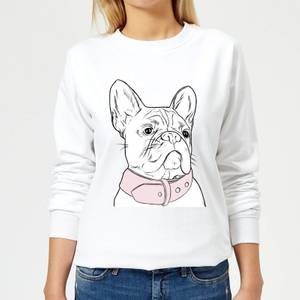 Frenchie Women's Sweatshirt - White