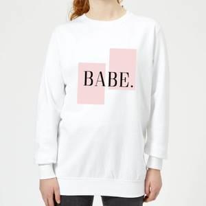 Babe Women's Sweatshirt - White