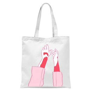 Hands In The Air Tote Bag - White