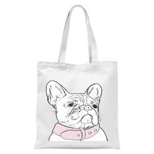 Frenchie Tote Bag - White