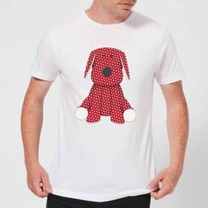 Candlelight Red Polka Dot Dog Teddy Men's T-Shirt - White