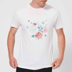 Candlelight Water Colour Flower Bouquet Men's T-Shirt - White