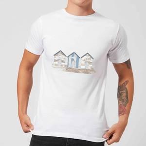 Candlelight Wooden Beach Hut Men's T-Shirt - White