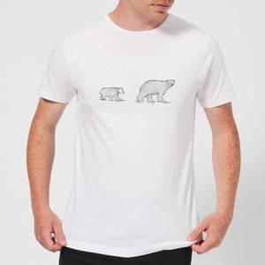 Candlelight Mum And Cub Polar Bear Men's T-Shirt - White
