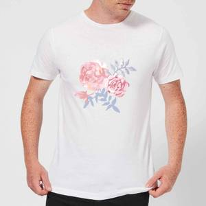 Candlelight Water Colour Cockscomb Men's T-Shirt - White