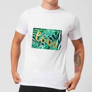 Candlelight Jungle Bush Golden Love Men's T-Shirt - White