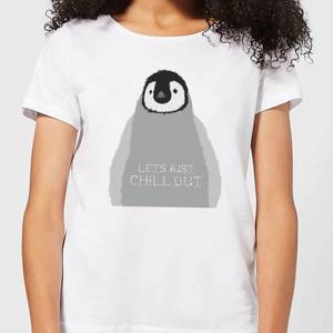Candlelight Baby Penguin Lets Just Chill Out Women's T-Shirt - White