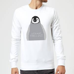 Candlelight Baby Penguin Lets Just Chill Out Sweatshirt - White