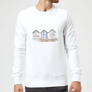 Candlelight Wooden Beach Hut Sweatshirt - White