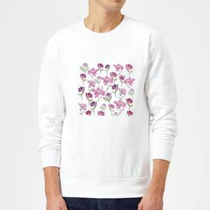 Candlelight Spring Flower Bed Sweatshirt - White