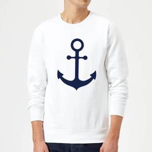 Candlelight Anchor Sweatshirt - White