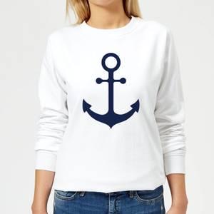 Candlelight Anchor Women's Sweatshirt - White