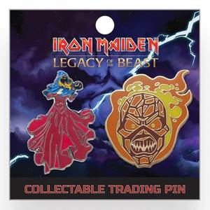 Iron Maiden Legacy of the Beast Lapel Pin - The Wicker Eddie and The Clairvoyant