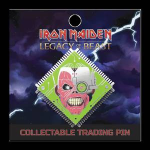 Iron Maiden Legacy of the Beast Lapel Pin - Cyborg Eddie