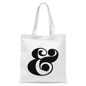 & Symbol Tote Bag - White